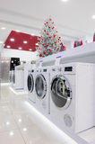 Home appliances in the store at Christmas Stock Photos
