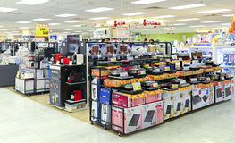 Home appliances store. Interior view of a home appliances store in hong kong Royalty Free Stock Photos
