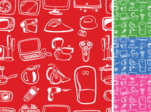 Home appliances symbols seamless Stock Images