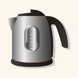Home appliances theme electric thermos elements. Vector illustration file Stock Image