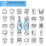 Home Appliances , thin line icons set Stock Image