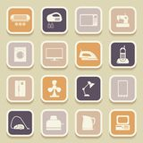 Home appliances universal icons Royalty Free Stock Photos