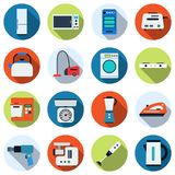 Home appliances vector icons Stock Images