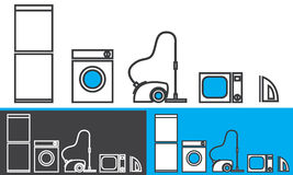 Home appliances - vector icons Stock Photo