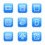 Home appliances web icons Royalty Free Stock Photography