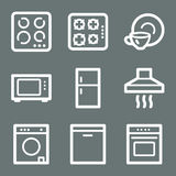 Home appliances web icons Stock Images