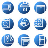Home appliances web icons Stock Photo