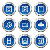 Home appliances web icons Royalty Free Stock Images