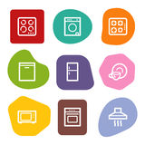 Home appliances web icons, colour spots series Stock Image