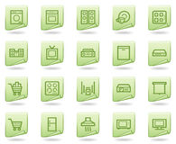 Home appliances web icons, green document series Royalty Free Stock Image