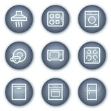 Home appliances web icons, mineral circle buttons Stock Photos