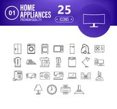 Home applience icons set royalty free illustration