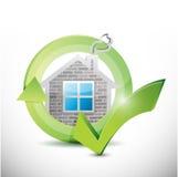 Home approval check mark illustration design stock illustration