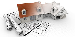 Home architecture project completion Royalty Free Stock Photos