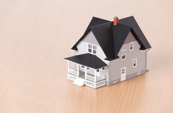 Home arkitektonisk modell Arkivfoton