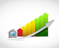 home arrow up graph illustration design Royalty Free Stock Photos