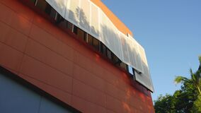 Home of the Arts Gold Coast architecture orange wall