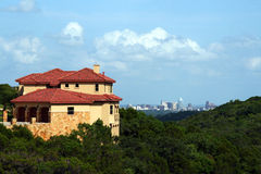 Home with an Austin view. A nice home with a downtown Austin, Texas view Stock Photo