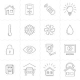 Home Automation Control Systems Icons Stock Images