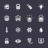 Home Automation Control Systems Icons. Smart Home and Smart House Icons. Home automation control systems. Simplus series vector icons Royalty Free Stock Images