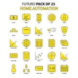 Home Automation Icon Set. Yellow Futuro Latest Design icon Pack vector illustration