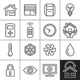 Home Automation Icons stock illustration