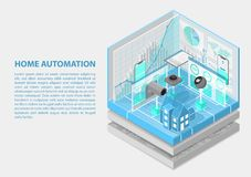 Home automation isometric vector illustration. Abstract 3D infographic for home automation related topics vector illustration