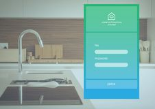 Home automation system App Interface. Digital composite of Home automation system App Interface Royalty Free Stock Images