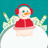 Home background with snowman Stock Photo