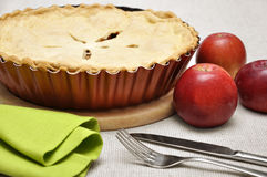 Home-baked apple pie Royalty Free Stock Images