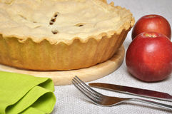 Home-baked apple pie Stock Photography
