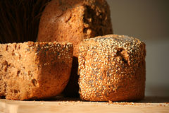 Home-baked bread. Crispy home-baked bread with sesame and poppy seeds Stock Images