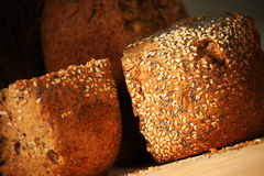 Home-baked bread. Crispy home-baked bread with sesame and poppy seeds Royalty Free Stock Images