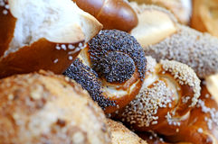 Home-baked bread with sesame Royalty Free Stock Photo
