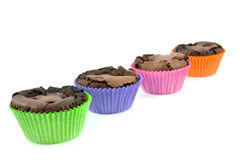 Home baked brownie cupcakes Stock Photos