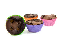 Home baked brownie cupcakes Royalty Free Stock Image