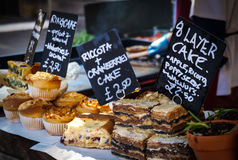 Home baked cakes Royalty Free Stock Photography