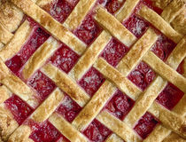 Home Baked Cherry Pie Stock Photography