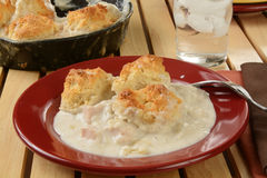 Home baked chicken pot pie Royalty Free Stock Photos