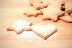 Home baked Chistmas cookies Royalty Free Stock Image