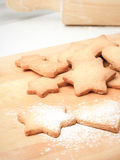 Home baked Chistmas cookies Royalty Free Stock Photography