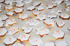 Home baked Christmas cookies Stock Photography