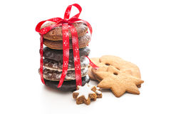 Home baked christmas cookies Royalty Free Stock Photography