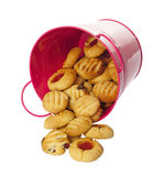 Home baked cookies isolated over white Royalty Free Stock Image