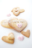 Home baked  cookies for Valentines Day Royalty Free Stock Photos