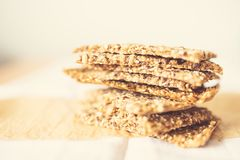 Free Home Baked Crisp Bread On Baking Paper Stock Photography - 102372652