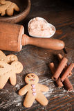 Home baked gingerbread men Stock Photography