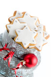Home Baked Gingerbread Stars Royalty Free Stock Photos