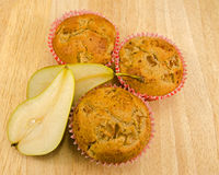 Home baked Pear muffins Royalty Free Stock Images