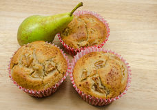 Home baked Pear muffins Stock Image